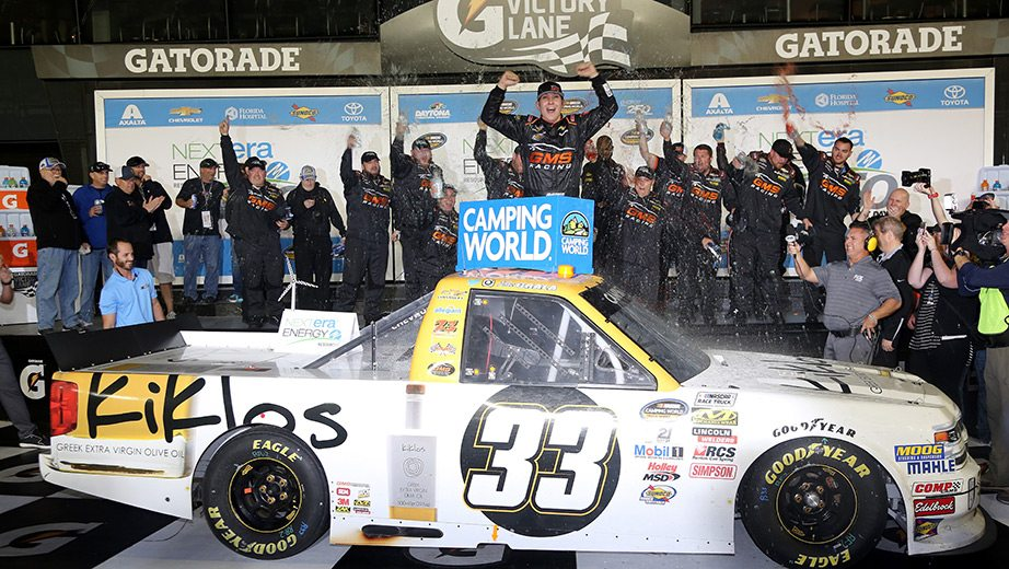 Kaz Grala sneaks by last-lap 'Big One' for win at Daytona