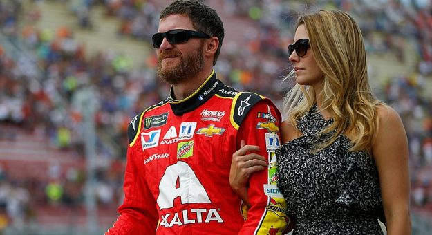 Dale Earnhardt Jr. and his wife, Amy