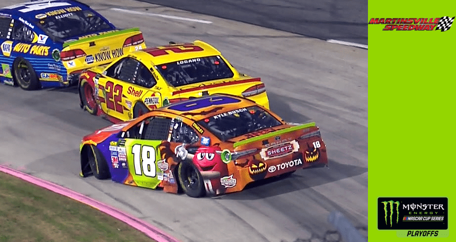 Official Site Of Nascar: Logano Spins After Contact With Kyle Busch