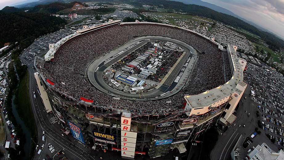 View from the track at Bristol Motor Speedway