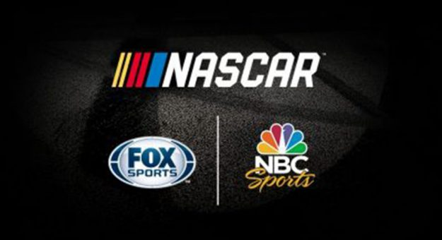 Photo of NASCAR, FOX Sports and NBC Sports logos