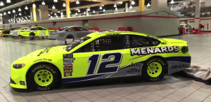 Ryan Blaney's No. 12 Darlington throwback paint scheme