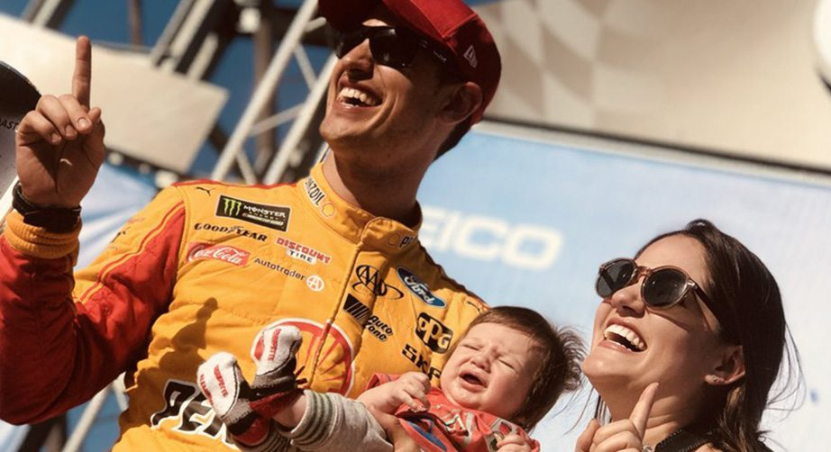 Joey Logano S Son Makes First Trip To Victory Lane