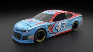 A rendering of the No. 43 World Wide Technology Chevrolet