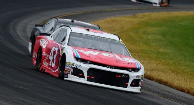 Bubba Wallace circles the track at Pocono