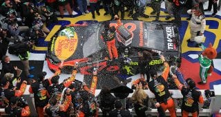 Front Tire Carrier Josh Shipplett And Front Tire Changer Josh Leslie Break  Down What It Took To Get The No. 78 Team Of Martin Truex Jr. To Victory  Lane At ...