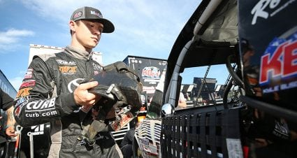 Logan Seavey impresses in NASCAR debut at Eldora