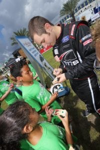 Kaz Grala signs autographs for kids at the Spediatrics Fun Day Festival