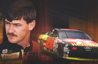 Davey Allison with his No. 28 Texaco Havoline car