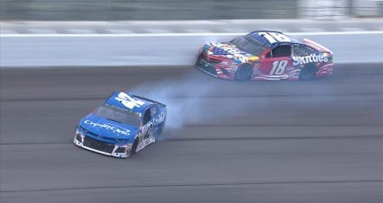 Pays to have friends: Larson thanks Stenhouse Jr., Newman for help