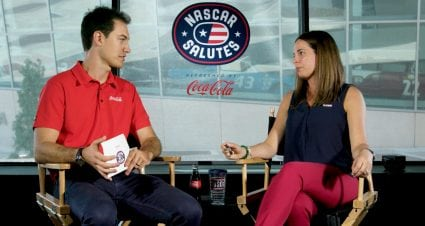 Joey Logano, Gold Star spouse talk about USO's support