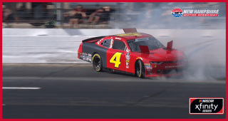 Ross Chastain spins, hits the wall at New Hampshire