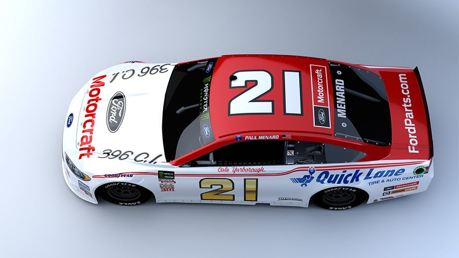 Paul Menard Throwback Darlington Scheme