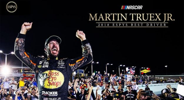 Martin Truex Jr. has been named as Best Driver at the 2018 ESPY Awards.