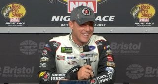 Kevin Harvick getting ready for Keelan's first day of school