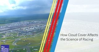 How does cloud cover affect the science of racing?