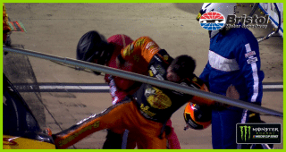 Contact from Kyle Busch leads to wreck, strong emotions from Truex