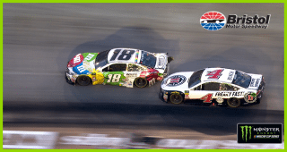 Kyle Busch, Harvick battle for free pass at end of Stage 2