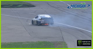 Hard hit, flames for Ty Dillon at Michigan