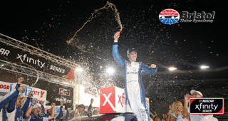 Recap how Kyle Larson grabbed victory in the Xfinity Series at Bristol