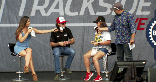 Blaney offers to do karaoke if he wins at Bristol, does magic trick