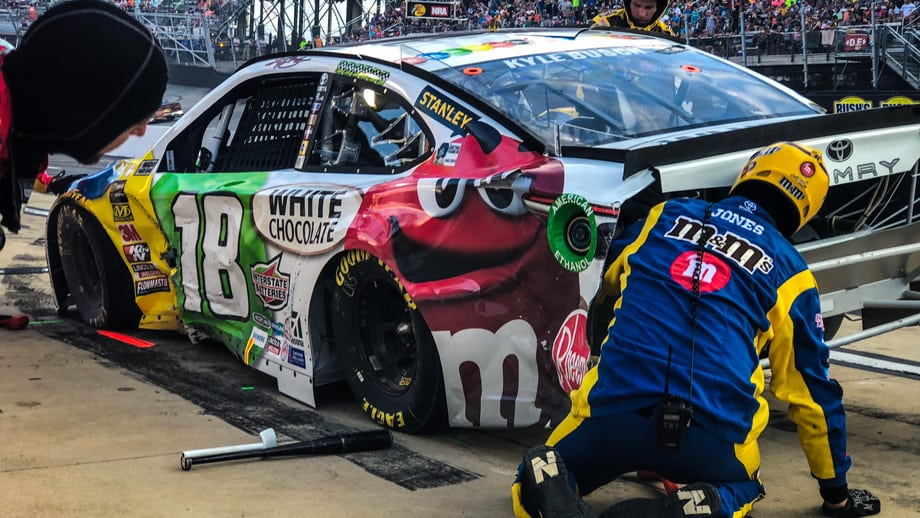 Kyle Busch nearly redeems his terrible, horrible, no-good, very bad day at Bristol