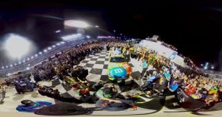 Kyle Busch Victory Lane Celebration 360