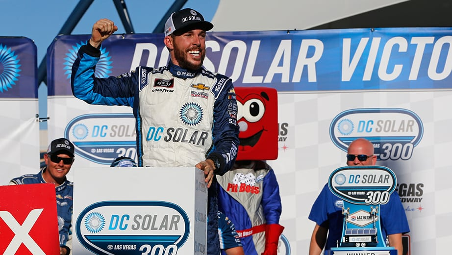 Ross Chastain secures first Xfinity win at Las Vegas | NASCAR.com