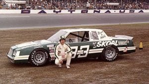 Harry Gant and the Skoal Bandit No. 33 in the mid-1980s.