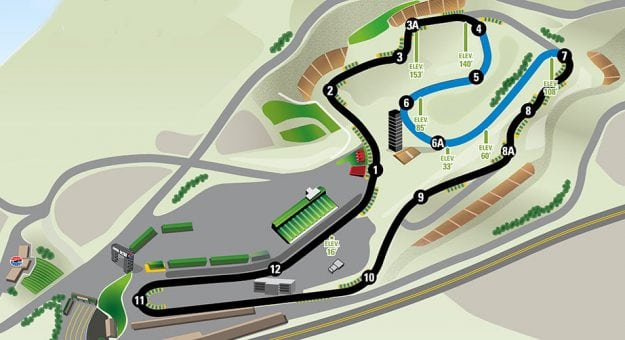 Sonoma Raceway Map The Carousel' to return at Sonoma in 2019 | NASCAR.com