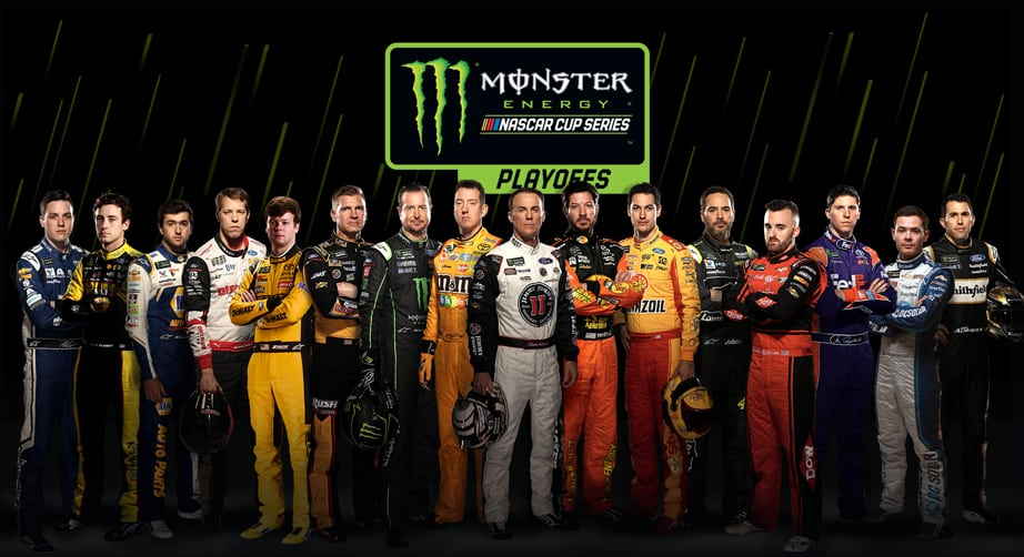 NASCAR Playoffs 16 drivers graphic