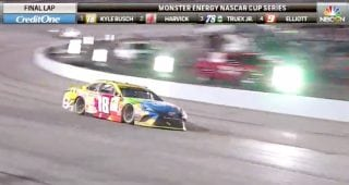 Locked and loaded: Busch takes checkered flag