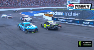 Truex spins Johnson after the checkered flag