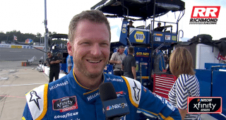 Dale Jr. ready for family photo on Richmond grid