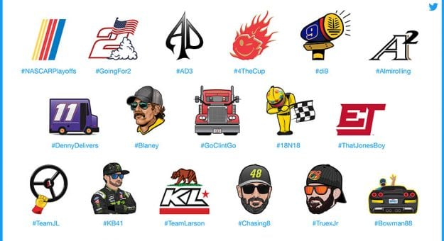 NASCAR Playoff Driver Emojis Hero