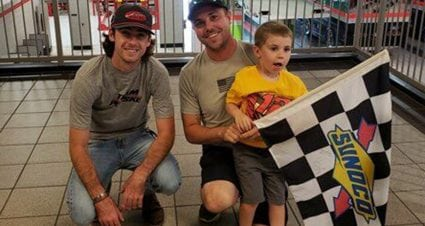 Checkered flag keepsake gives 4-year-old fan a new favorite driver in Blaney