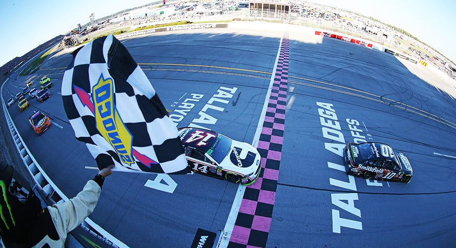 Stewart-Haas dominance at Talladega broken up by fuel hiccups
