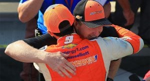 Chase Elliott celebrates Watkins Glen with his dad
