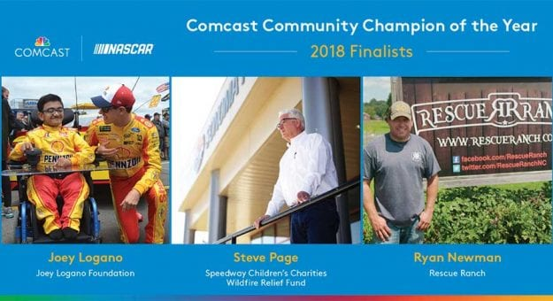 Graphic of Comcast Community Champion Award Finalists