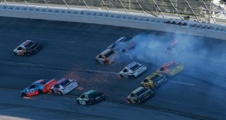 NASCAR stands by decision to not throw flag at Talladega