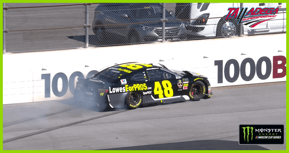 Jimmie Johnson gets loose, spins early in Stage 2