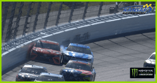 Daniel Suarez hits the wall, nearly disaster for Alex Bowman