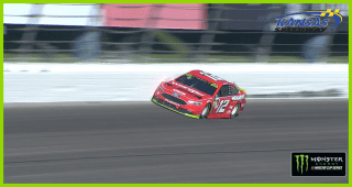 Playoff contender Ryan Blaney scrapes wall in final stage