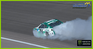 Byron, Bubba create a smoke show at Kansas