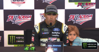 Did pre-race advice from Tony Stewart lead to Talladega win for Aric Almirola?