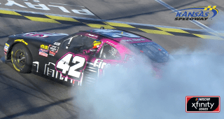 Here comes the burnout! Nemechek celebrates first Xfinity win