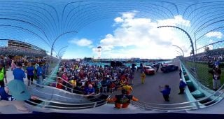 Prerace Final Four Champion Crowd Walk 360
