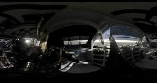 360 view: Full picture, scanner of Larson's blown tire