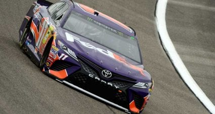 Hamlin crashes Championship 4 party, wins Busch Pole Award in Miami