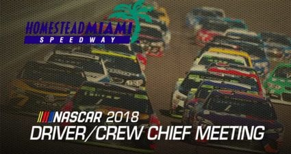 Watch: Driver meeting for Homestead-Miami Speedway